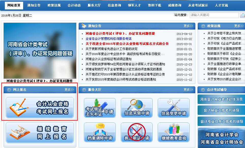 河南省会计信息系统_