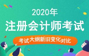 2020年注册会计师考试大纲_新旧大纲变化对比汇总
