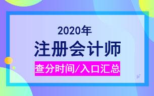 各省2020年注册会计师考试成绩查询时间_入口汇总