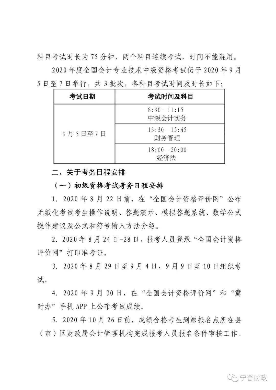 2020年河北邢台中级会计师考试时间图二